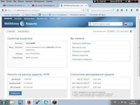 Как узнать свой номер кошелька Webmoney(перезалив)