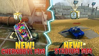 Gold Boxes In New Tanki Online MAPS! (STADIUM & CHERNOBYL MM MATCHMAKING!) & New Drone