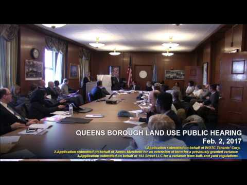 20170202 Queens Borough Land Use Hearing