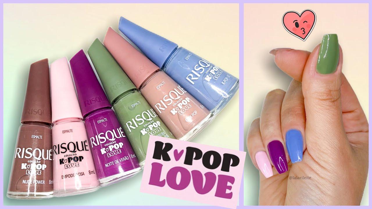 Esmaltes Coleção Risqué K-Pop Love (Resenha)