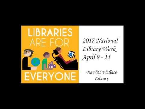 National Library Week Presentation on 2nd Floor Renovations