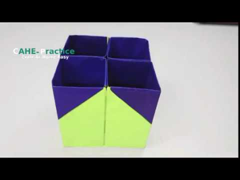 How to Make a Easy Paper Pen Holder   DIY simple paper craftCAHE PracticeCraft At Home Easy