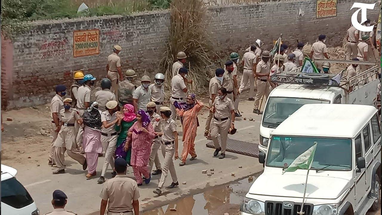 Download Hisar: Farmers protest against Haryana CM Manohar Lal Khattar; police use teargas shells