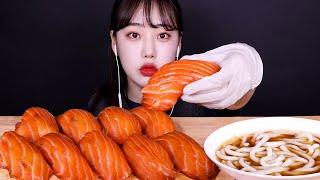 삼미식당 대왕연어초밥 먹방 Giant Salmon Su…