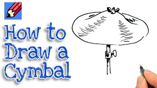 How to draw a Cymbal Real Easy - Spoken Tutorial