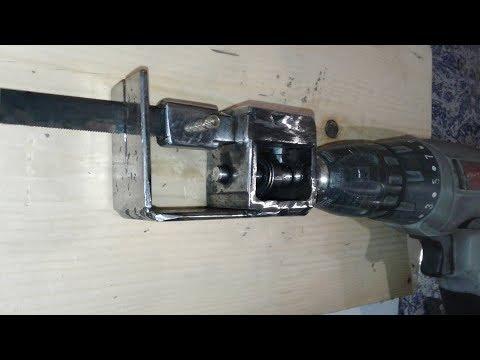 Самодельная механическая мини-пила. Mechanical Mini Saw DIY