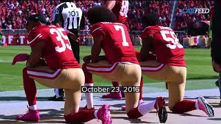 Colin Kaepernick began kneeling during the national anthem