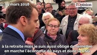 Hausse de la CSG: face à des retraités «pas contents», Macron se justifie