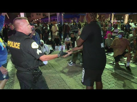 Black Lives Matter Protesters Peacefully Intervene With Arrest In Oceanside