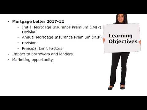 Changes to MIP and Loan Limits for Reverse Mortgages Mortgagee Letter 2017 12