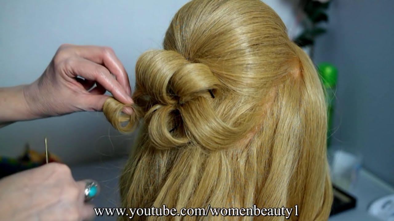 romantic wedding prom hairstyle