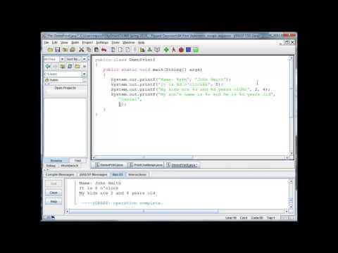 Java Basics - printf