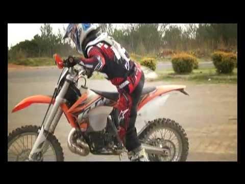 ktm 200xcw (electric start) test ride - youtube