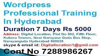 Wordpress Professional Training In Hyd WordPress బ్లాగ్ ఆన్లైన్ మరియు ఆఫ్ లైన్ శిక్షణ హైదరాబాద్