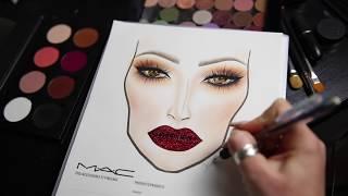 Facechart & Glitter Lip Tutorial   cassieeMUA