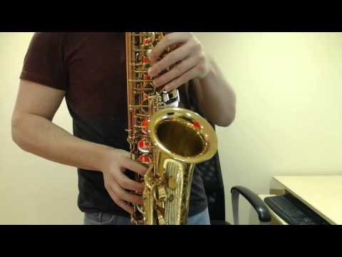 How To Play A Henry Mancini Inspired Saxophone Riff (Beginner Saxophone Lesson BC306)