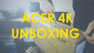 unboxing acer 4k 24 monitor k242hq