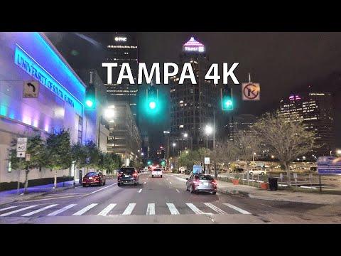Tampa 4K - Night Drive