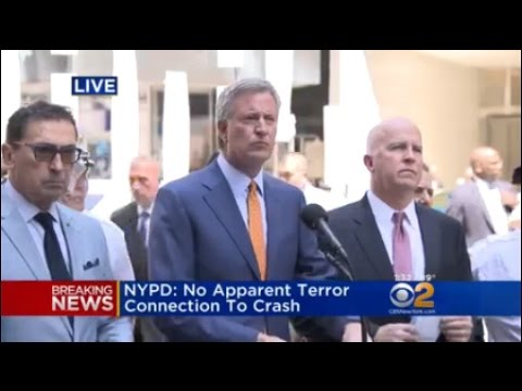 De Blasio Gives Update On Times Square Crash