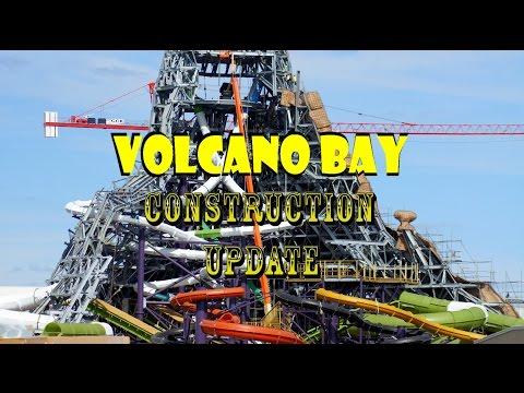 Universal Orlando Resort Volcano Bay Construction Update 10.25.16 New INSANE Slide + Much More!