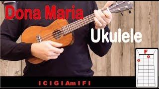 Dona Maria - Thiago Brava ft Jorge - Tutorial ukulele