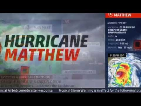Hurricane Matthew LIVE (Fort Lauderdale, Florida)
