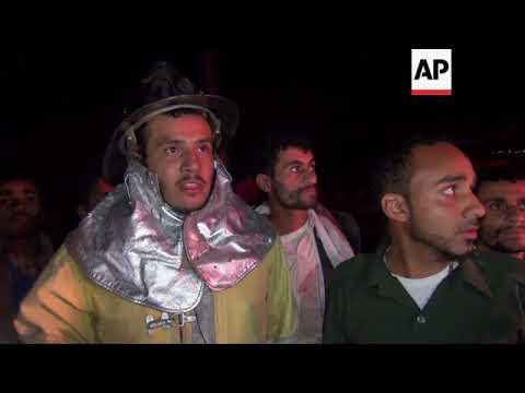 Explosion as Saudi-led coalition airstrike hits petrol station in Yemen capital