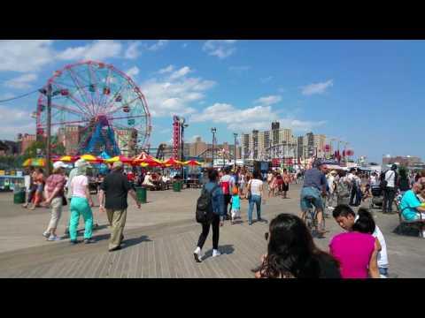 The Coney Island Boardwalk June 6th 2016