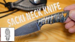 Das Sacki Neck Knife - Damast-Version + extra Griffschalen