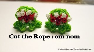 Cut the Rope: om nom (mouth Open) Charm - How to Rainbow Loom