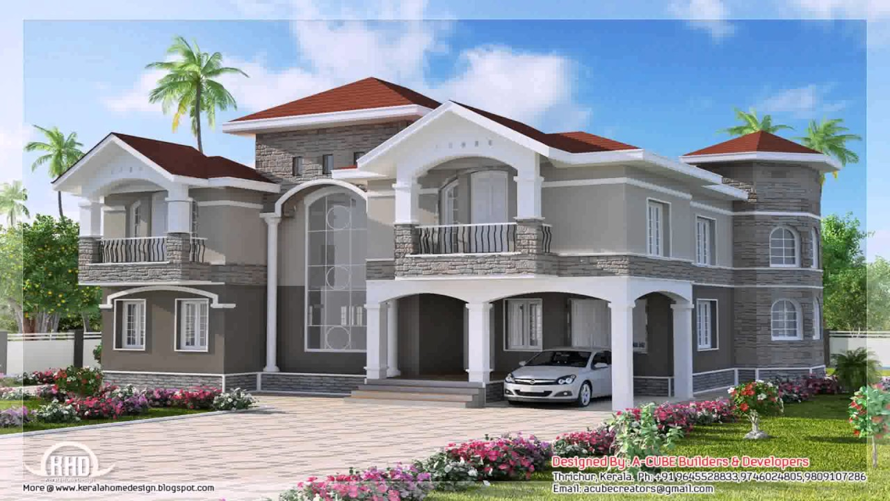 House design double story - Double Storey House Design In India