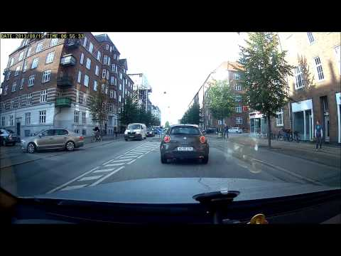 Taxi runs down cyclist in copenhagen