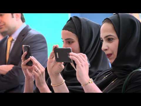 Nja Mahdaoui and UAE artists create work at Christie's Dubai