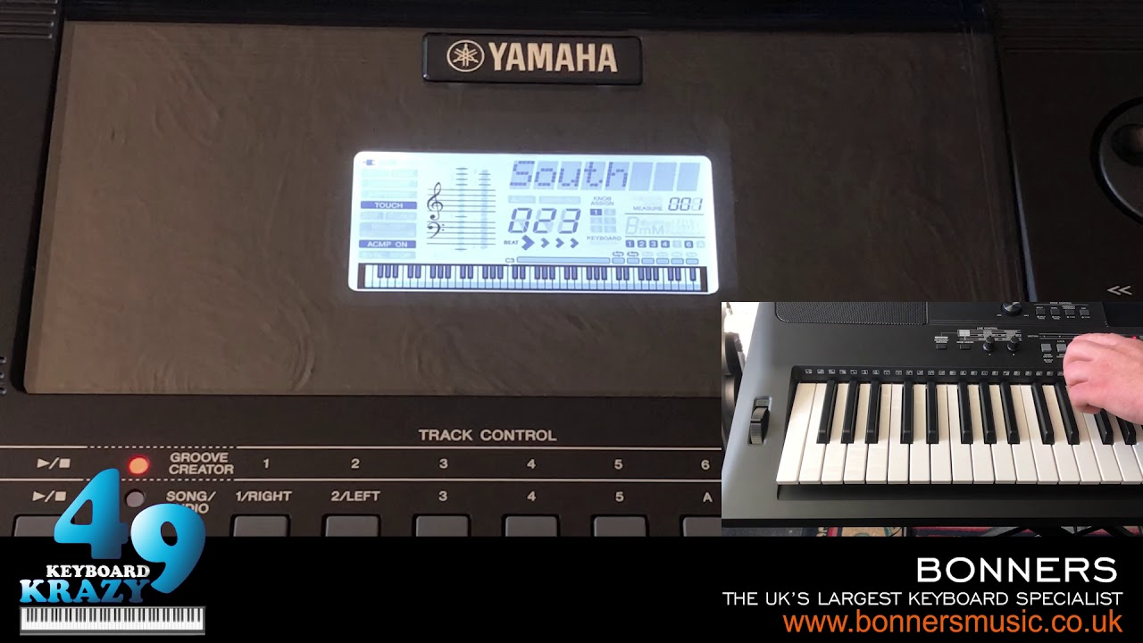 the new yamaha psr ew410 keyboard 35 groove creator. Black Bedroom Furniture Sets. Home Design Ideas