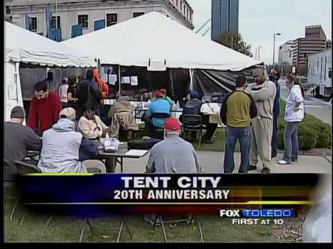 Toledo holds 20th Tent City & Toledo holds 20th Tent City - YouTube