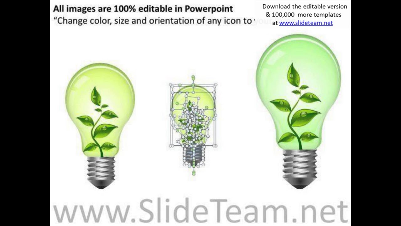 Concept Green Technology Bulb Powerpoint Slides And Ppt Diagram Lighting Sample Templates Pptx