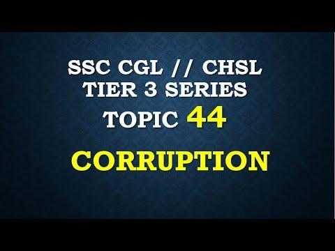 essay on topic corruption