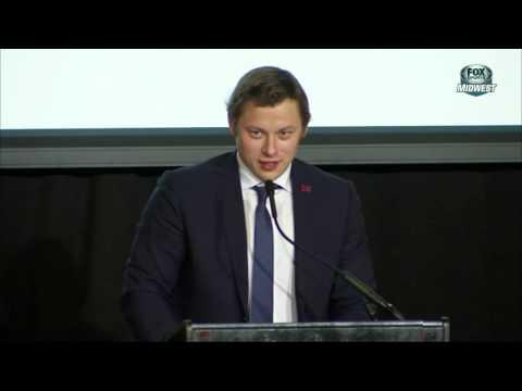 Vladimir Tarasenko accepts Sports Personality of the Year Award