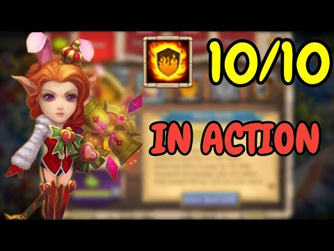 Candy Kane L 10/10 Flame Guard In Action L Castle Clash