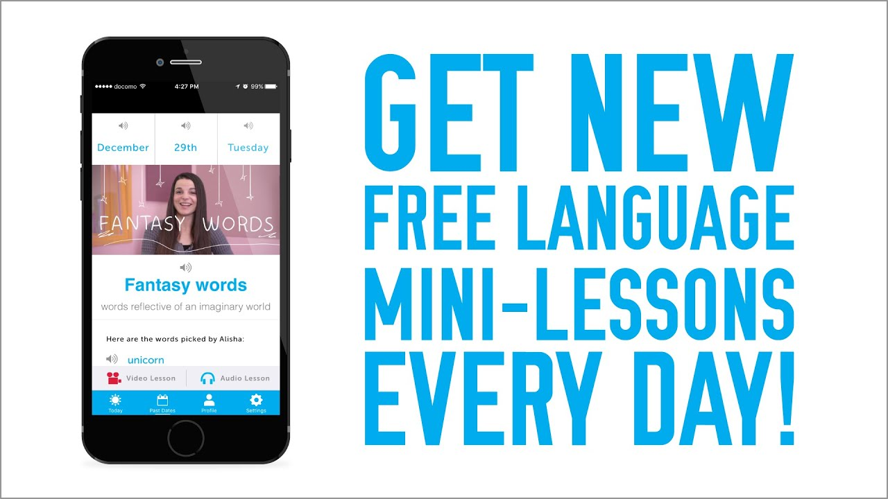 Get Language Mini-Lessons Delivered To You Everyday!
