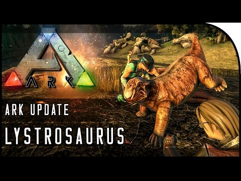 ARK: Survival Evolved LYSTROSAURUS GAMEPLAY! (THE DOG DINOSAUR!)