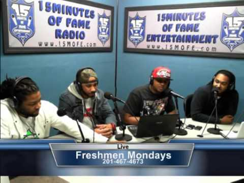 "Derek Tunia (@MRDT201) interviews on 15 Minutes Of Fame Radio ""Freshmen Mondays"""