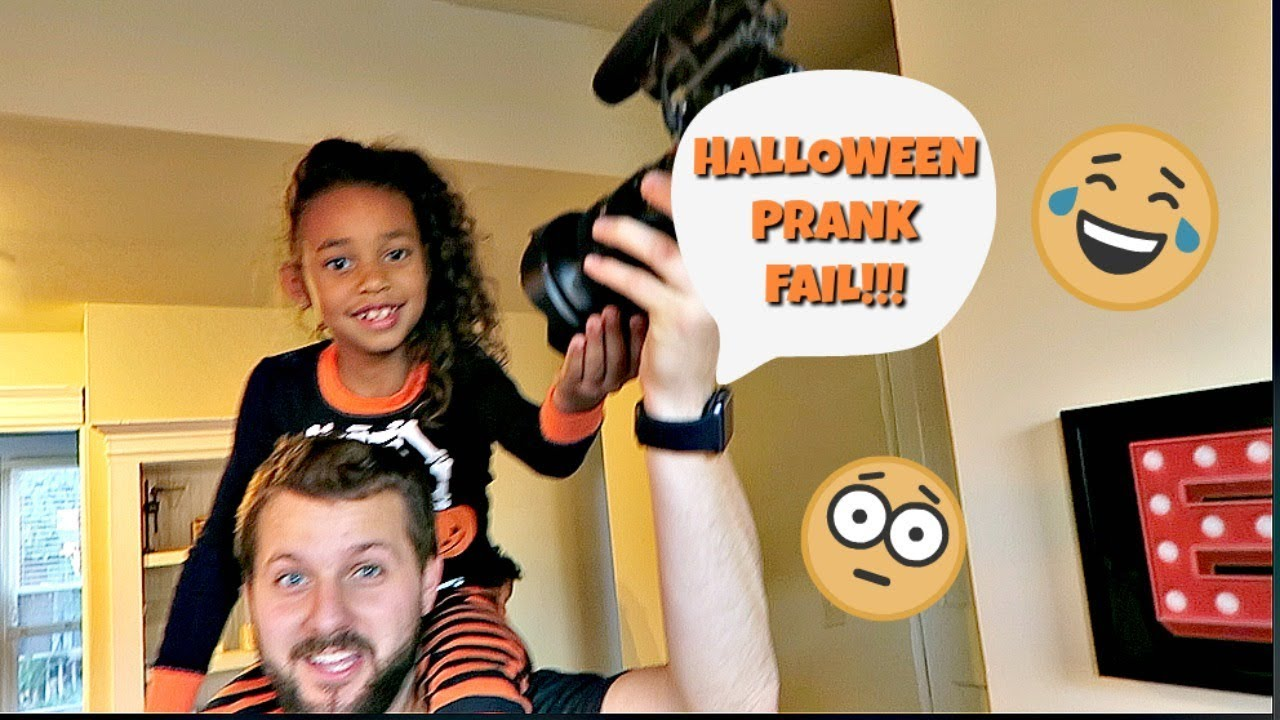 halloween prank fail | britt's space | vlog - youtube