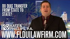Do DUIs transfer from state to state?