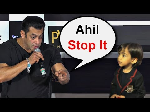 Salman Khan Shouts At Nephew Ahil Sharma At Loveratri Trailer Launch