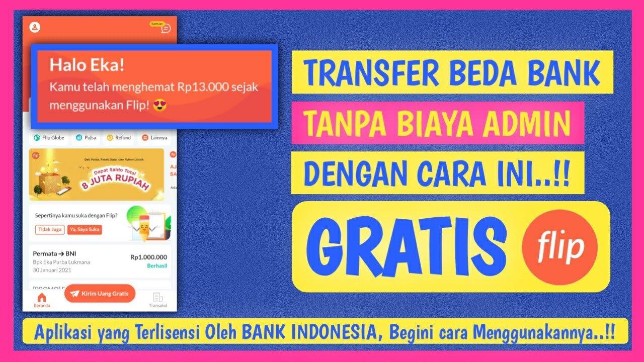 Download FLIP TRANSFER BEDA BANK TANPA BIAYA ADMIN