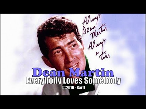 Dean Martin - Everybody Loves Somebody (Karaoke)