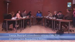 Concejo Municipal extraordinario autoconvocado n°18, martes 29 de octubre 2019