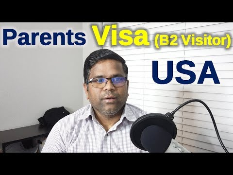 Parents Visa | B2 Vistor Visa To USA | H1B Life In USA