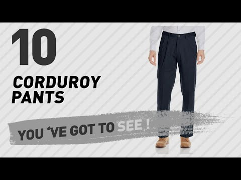 Corduroy Pants For Men // The Most Popular 2017